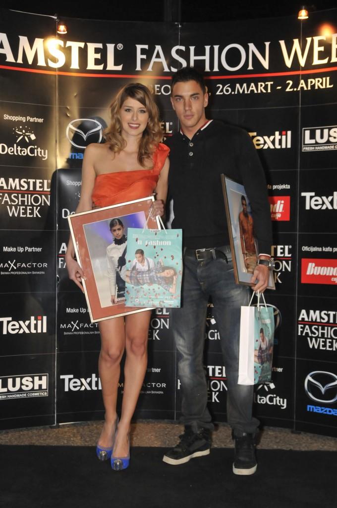 tijana krstic i vlada vuksanovic 680x1024 29. Amstel Fashion Week – svečana dodela nagrada