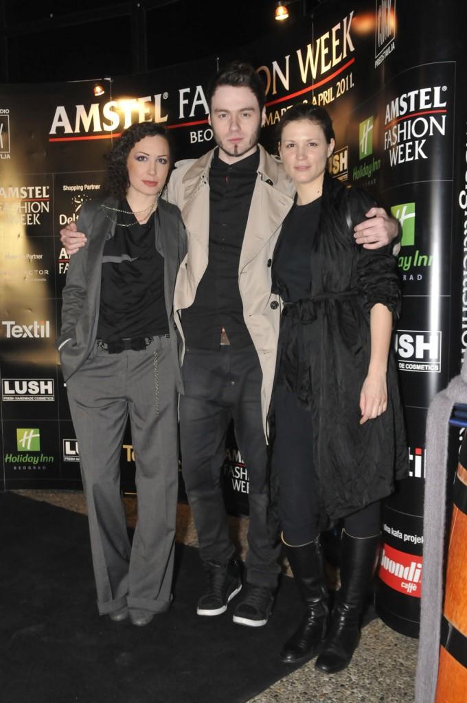 tijana pavlov dejan despotovic i tamara radivojevic 680x1024 29. Amstel Fashion Week – svečana dodela nagrada