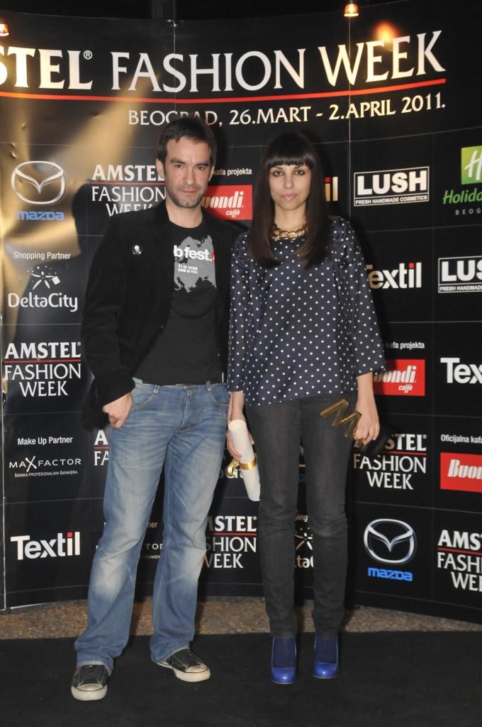 vladan stanojlovic i ana ljubinkovic 680x1024 29. Amstel Fashion Week – svečana dodela nagrada