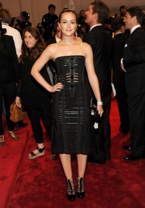 Leighton Meester in Louis Vuitton Crveni tepih: MET Ball 2011