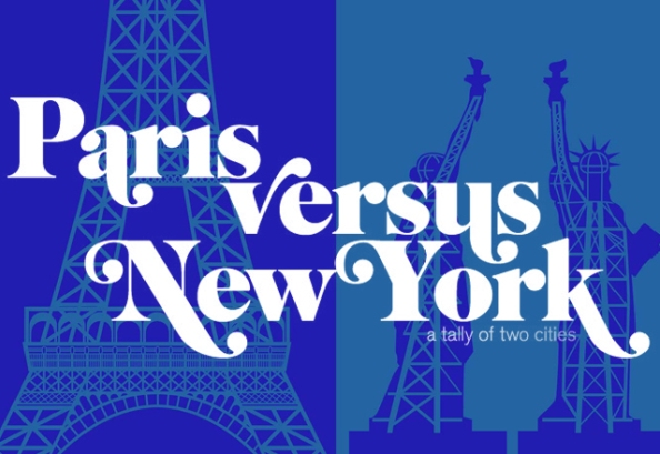 Paris vs New York a tally of two cities.1 Pariz vs Njujork