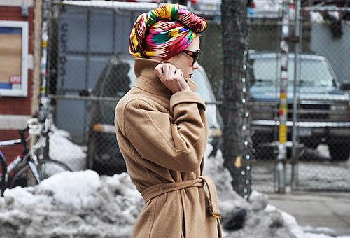 Tommy Ton photo for style com Prolećni trend: Turban
