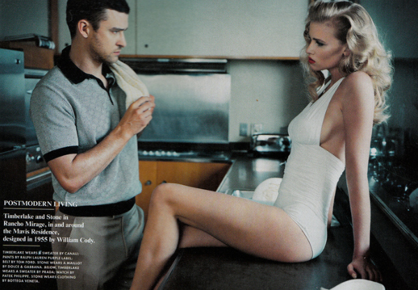 157 Lara Stone i Justin Timberlake za Vanity Fair jul 2011.