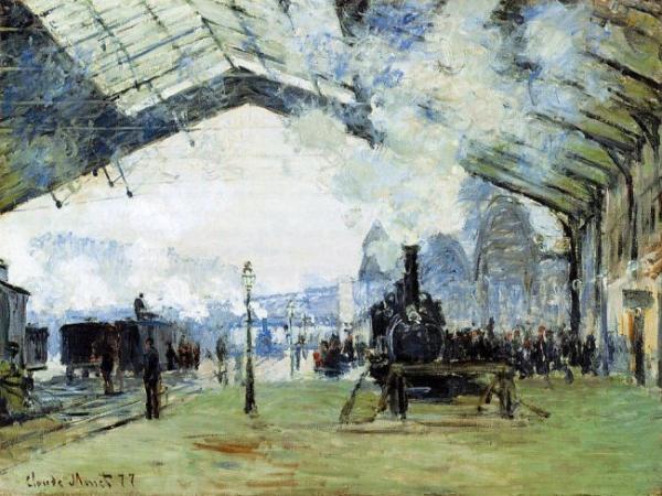 Arrival of the Normandy Train  Gare Saint Lazare Claude Monet Kada sam srela Monea