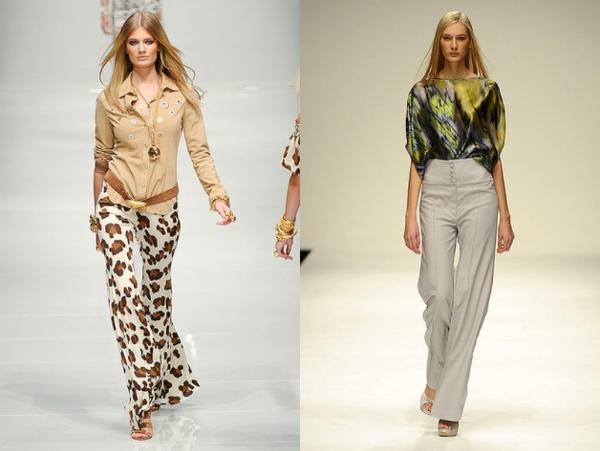 Blumarine i Maria Grachvogel Poslovni trend: duboke pantalone