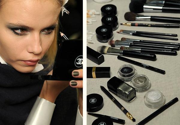 Chanel Fall 2011 makeup preview Natasha Poly Makeup: Chanel kaže Ove jeseni tamne boje i šljokice