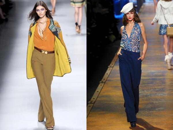 Etro i Christian Dior Poslovni trend: duboke pantalone