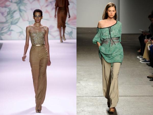 Monique Lhuillier i Cynthia Steffe Poslovni trend: duboke pantalone