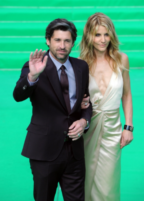 Patrick Dempsey and wife Jillian Dempsey Transformers: premijera u Moskvi