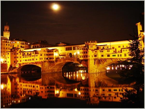 Ponte vecchio at night Najlepši mostovi sveta: Ponte Vecchio, Italija
