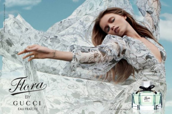 abbey lee kershaw gucci fragrance campaign Gucci Flora Fragrance