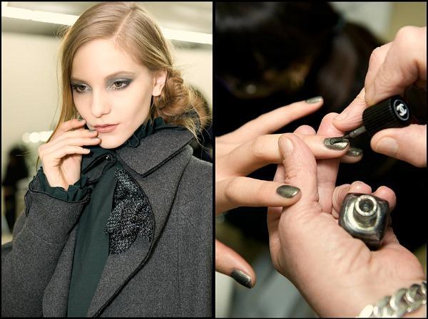 chanel fall 2011 Makeup: Chanel kaže Ove jeseni tamne boje i šljokice