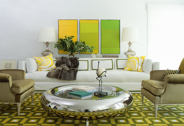 color blocking in interior design Color blocking i vintage komadi u enterijeru