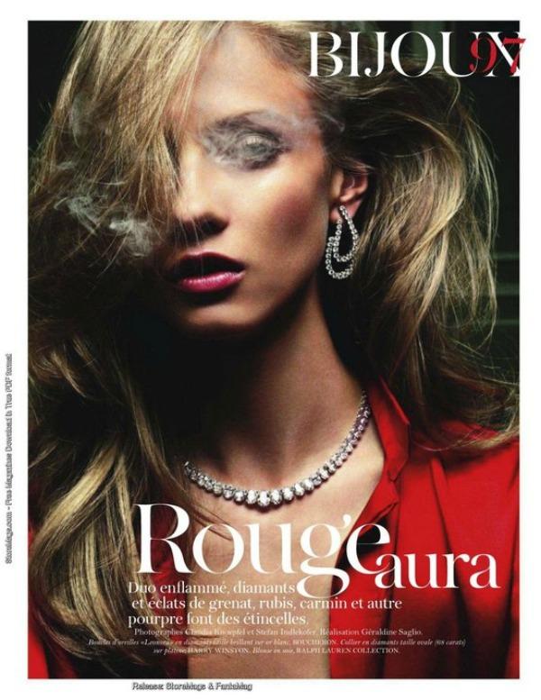 "119 ""Vogue Paris"" avgust 2011 – editorijal ""Rouge Aura"""