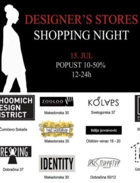 Designer's stores – Shopping night