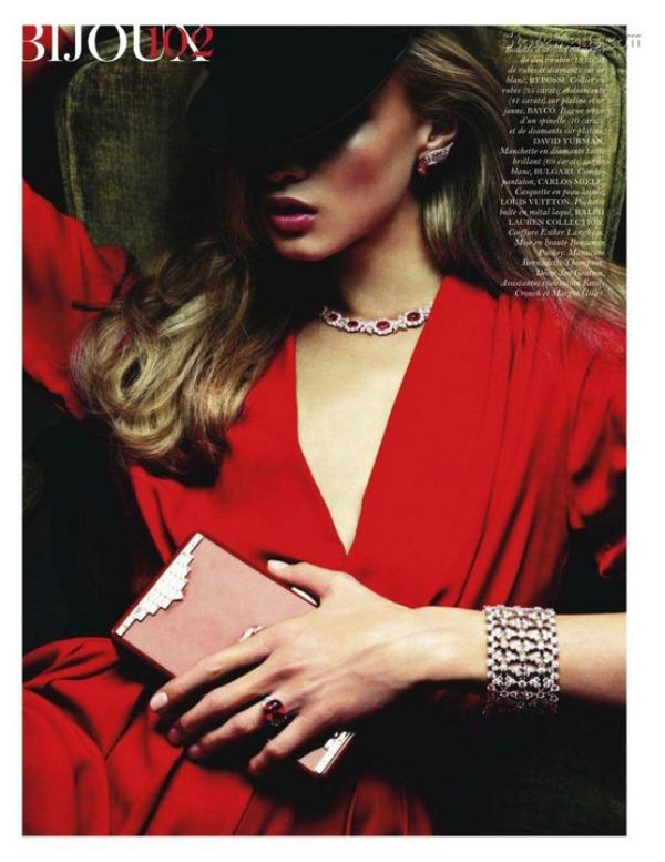 "47 ""Vogue Paris"" avgust 2011 – editorijal ""Rouge Aura"""
