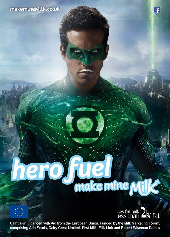 550w make mine milk campaign ryan reynolds Frajer bajan   Rejnolds Rajan!