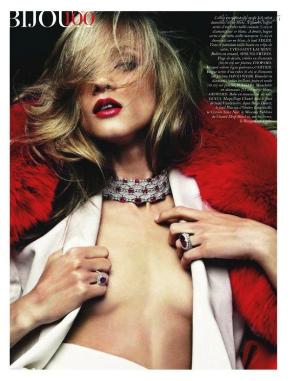 "57 ""Vogue Paris"" avgust 2011 – editorijal ""Rouge Aura"""