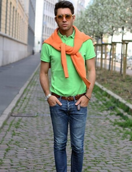 Fashion moMENts: Color-blocking Show!