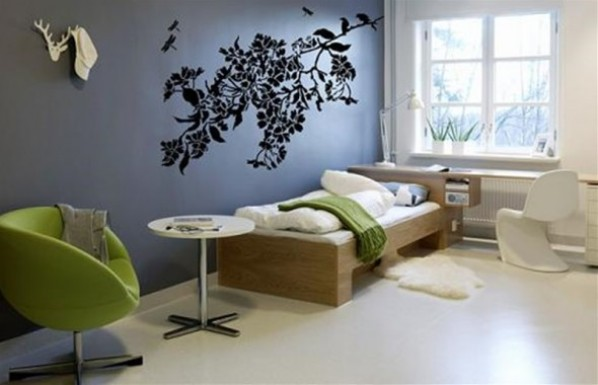 Contemporary Home Interior Decoration Gift Ideas Nature Wall Sticker by Zazous Dragonflies Branch 590x380 Savremeni detalji za dom