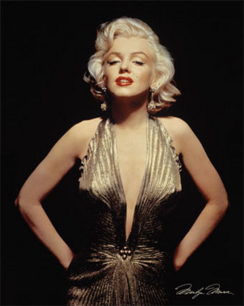 Gold dress Marilyn Monroe – seks simbol 20. veka