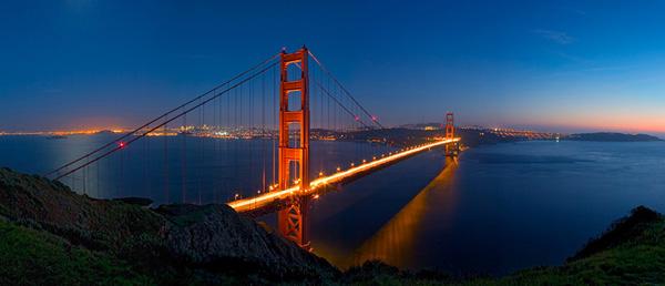 Golden Gate B sunset Najlepši mostovi sveta: The Golden Gate Bridge