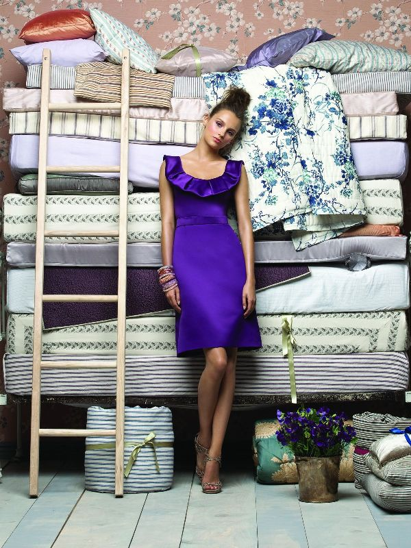 Lela Rose Bridesmaids Purple Elegantne haljine za kume i deveruše