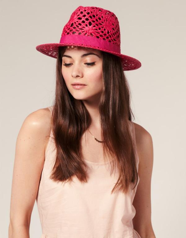 Seeberger Straw Open Weave Trilby Modni trend: Fantastična pink