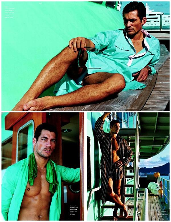 Slika 1.2 David Gandy za Vogue Hommes International proleće/leto 2011.