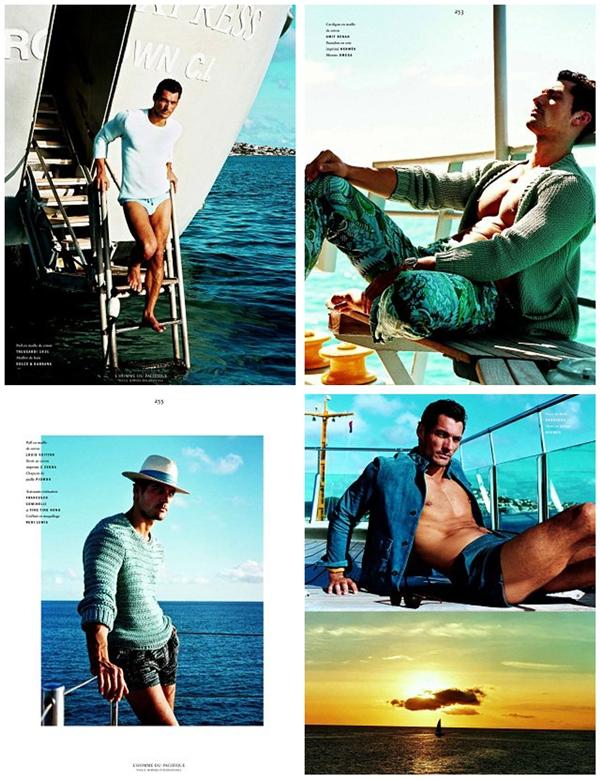 Slika 3.2 David Gandy za Vogue Hommes International proleće/leto 2011.