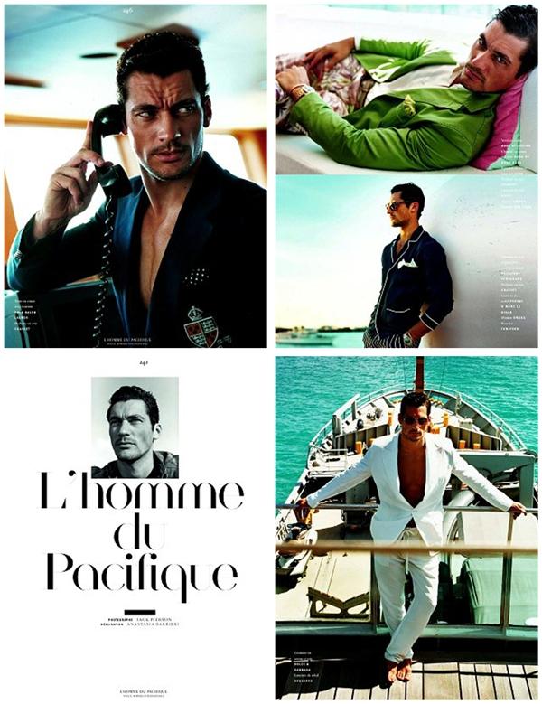 Slika 4.2 David Gandy za Vogue Hommes International proleće/leto 2011.