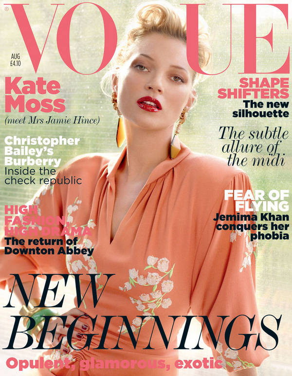 """Vogue Kate Moss 1 Kate Moss za """"Vogue UK"""" avgust 2011."""