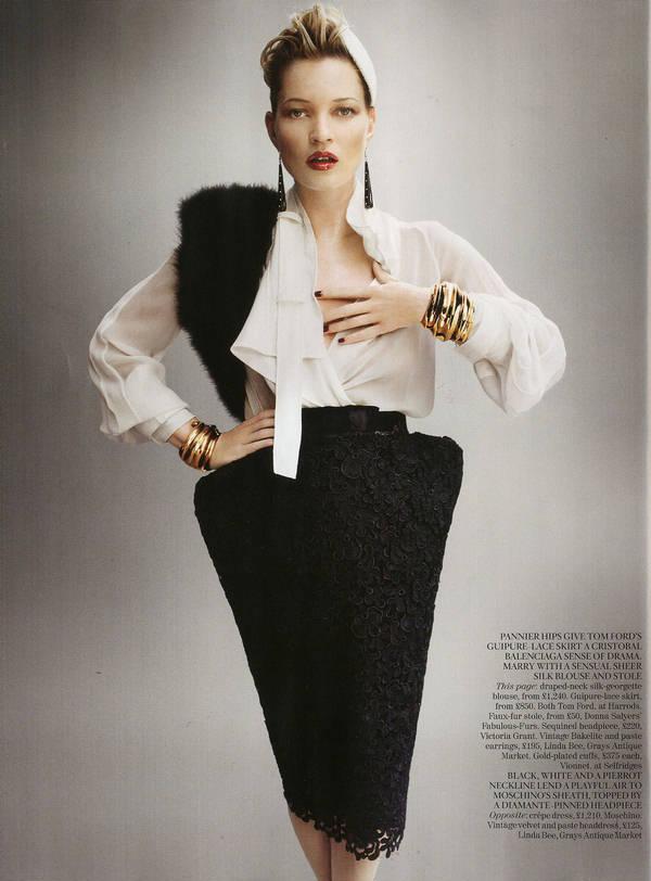 """Vogue Kate Moss 10 Kate Moss za """"Vogue UK"""" avgust 2011."""
