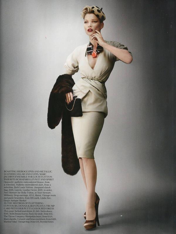 """Vogue Kate Moss 11 Kate Moss za """"Vogue UK"""" avgust 2011."""