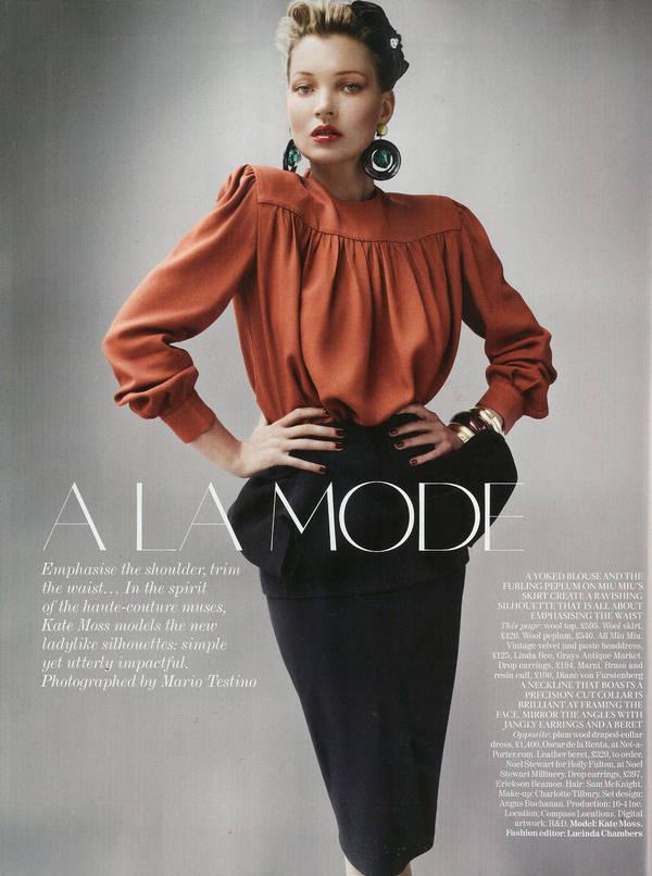 """Vogue Kate Moss 3 Kate Moss za """"Vogue UK"""" avgust 2011."""