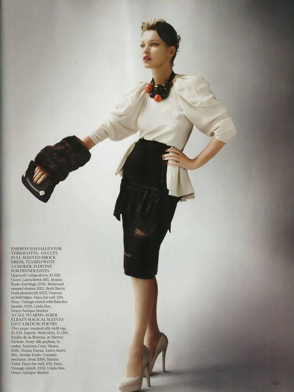 """Vogue Kate Moss 7 Kate Moss za """"Vogue UK"""" avgust 2011."""
