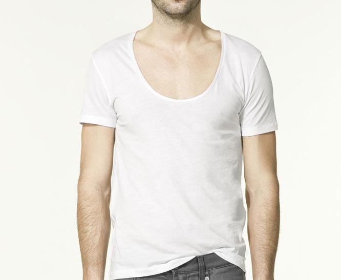 bela majica okrugli izrez Fashion moMENts: Color blocking Show!