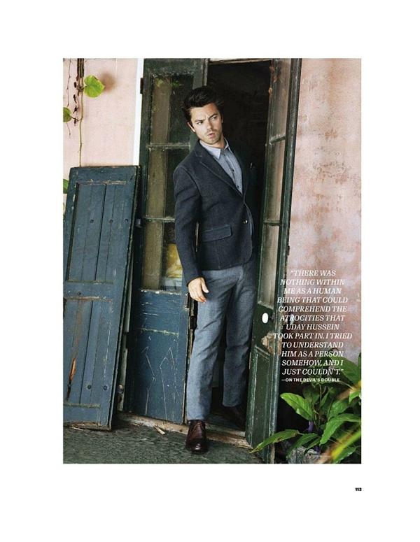 """dominiccooper2 Dominic Cooper za """"Esquire USA"""" avgust 2011."""