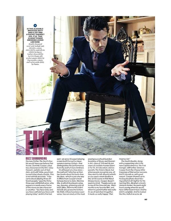 """dominiccooper6 Dominic Cooper za """"Esquire USA"""" avgust 2011."""
