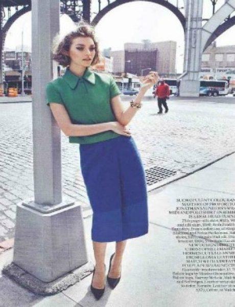 """Arizona Muse za """"Vogue UK"""" avgust 2011."""