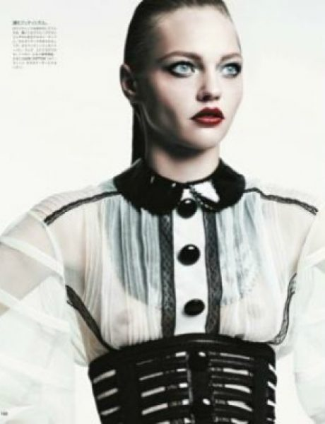"Sasha Pivovarova za ""Vogue Japan"", avgust 2011."