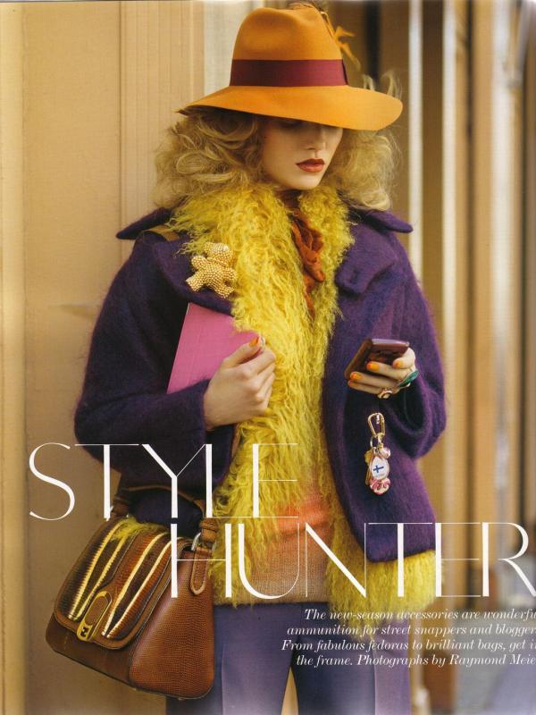 "118 Vogue UK avgust 2011. godine – editorijal ""Style Hunter"""
