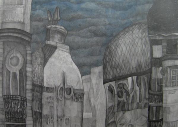 14.kombinovana tehnika na papiru 70x452010 Wannabe intervju: Jelena Milović