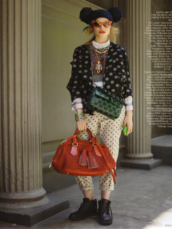 "39 Vogue UK avgust 2011. godine – editorijal ""Style Hunter"""