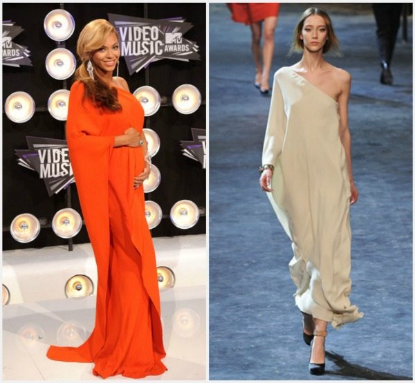 Beyonce in Lanvin Fall 2011 Fashion Report   Video Music Awards