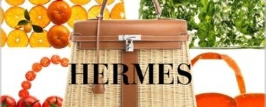 Luksuz na travi: Hermès Kelly Picnic torba