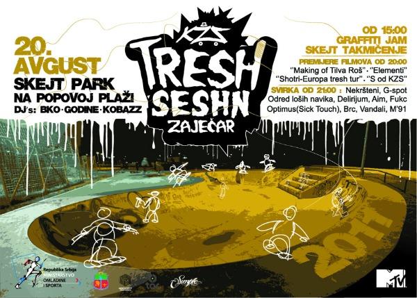 KZS Tresh Seshn Plakat picnik KZS Tresh Seshn 2011 u Zaječaru