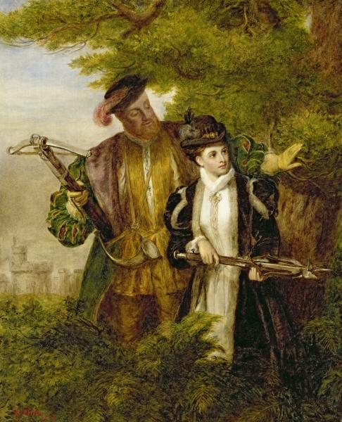 King Henry and Anne Boleyn Deer shooting in Windsor Forest Muze na Zemlji: Anne Boleyn