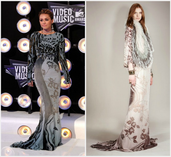 Miley Cyrus in Roberto CavalliPre Fall 2011 Fashion Report   Video Music Awards