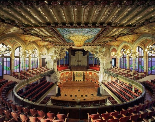 PalaudeMusicaCatalanaBarcelonaSpain2009 Enterijer najpoznatijih operskih kuća